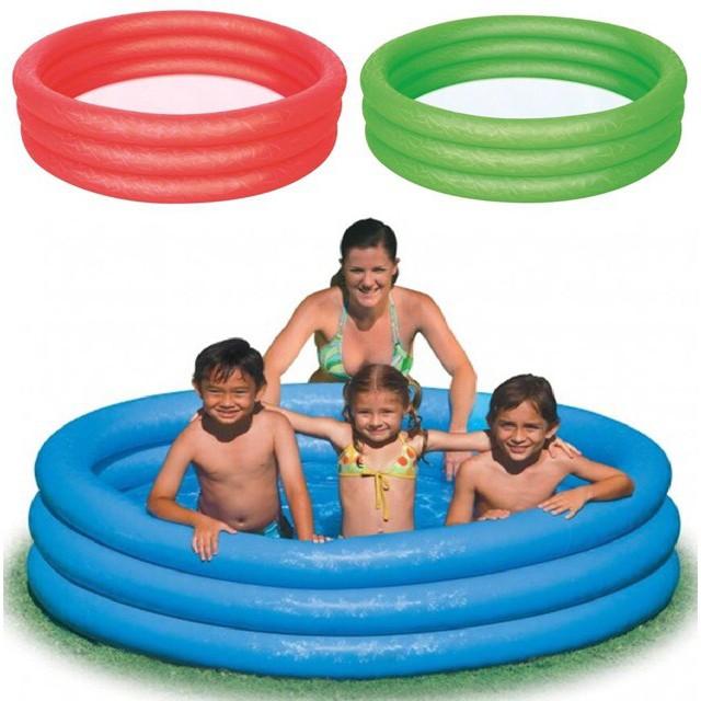 Bestway 3 Ring Paddling Pool 122Cm X 25Cm Blue