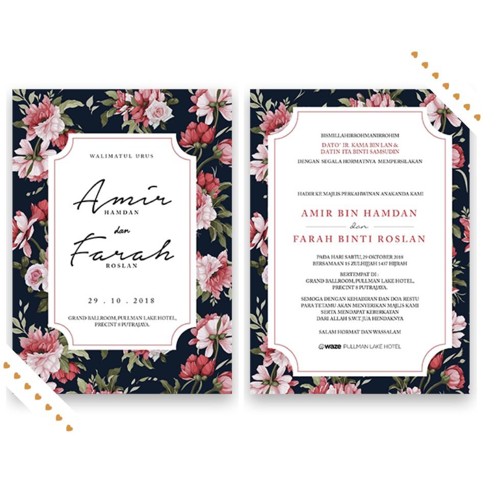 Kad Kahwin Undangan Birthday Wedding Murah Free Shipping Design