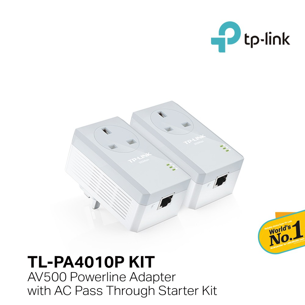 Tp Link Tl Pa4010pkit 500mbps Powerline Homeplug Adapters Ac Pass Network With Homeplugs Using Just Your Existing Electrical Wiring Thru Shopee Malaysia