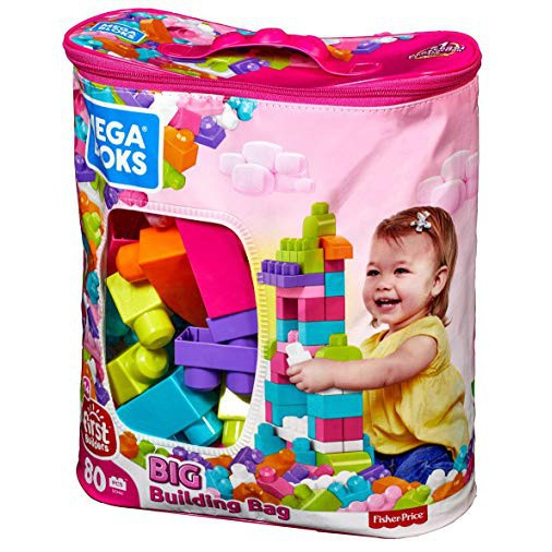 Fisher Price Mega Blocks first builders 80 pcs Education Bloks Toy Pink Toys for boys