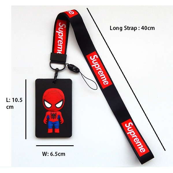 Avengers ID Badge Lanyard Name Tag Key Card Holder Keychain (Soft Rubber Type) Iron Man/ Spiderman/ Captain/ Bat-man