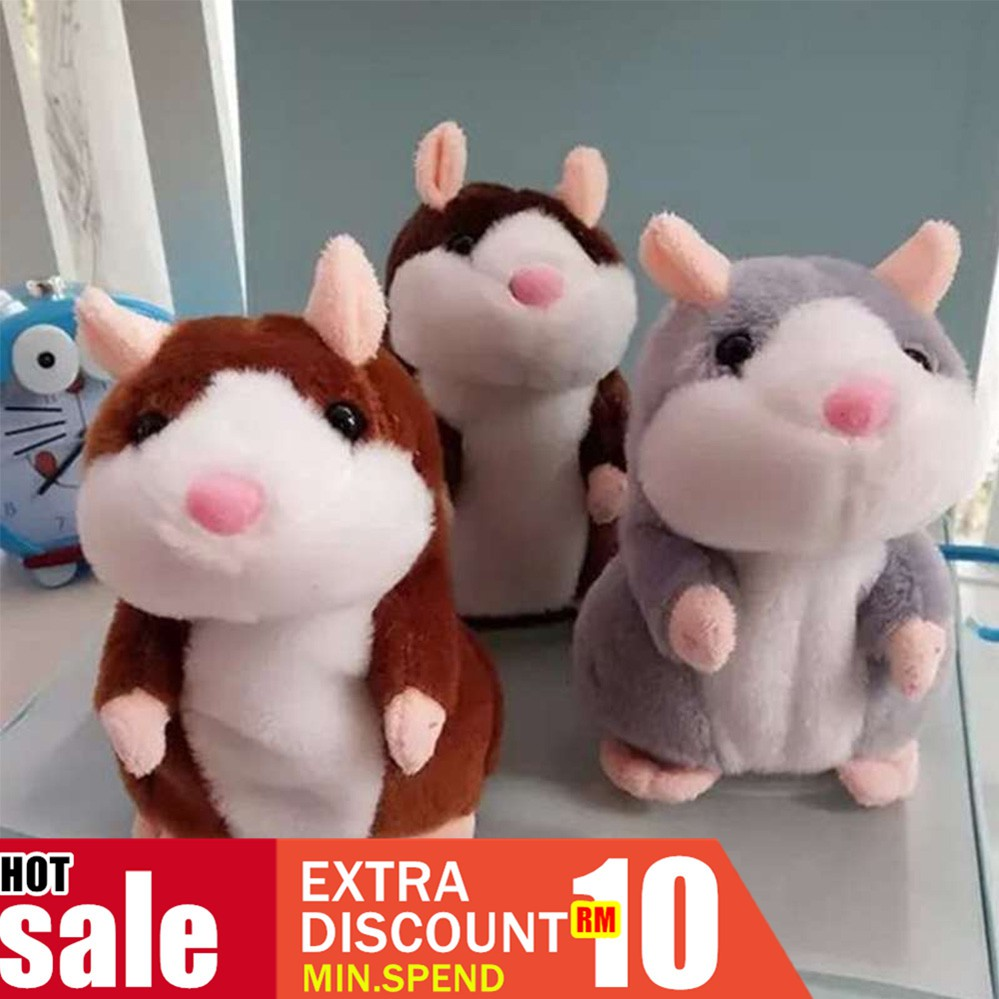 Cheeky Talking Hamster Cute Nod Mouse Speak Sound Record Pet Plush Toy Xmas Gift