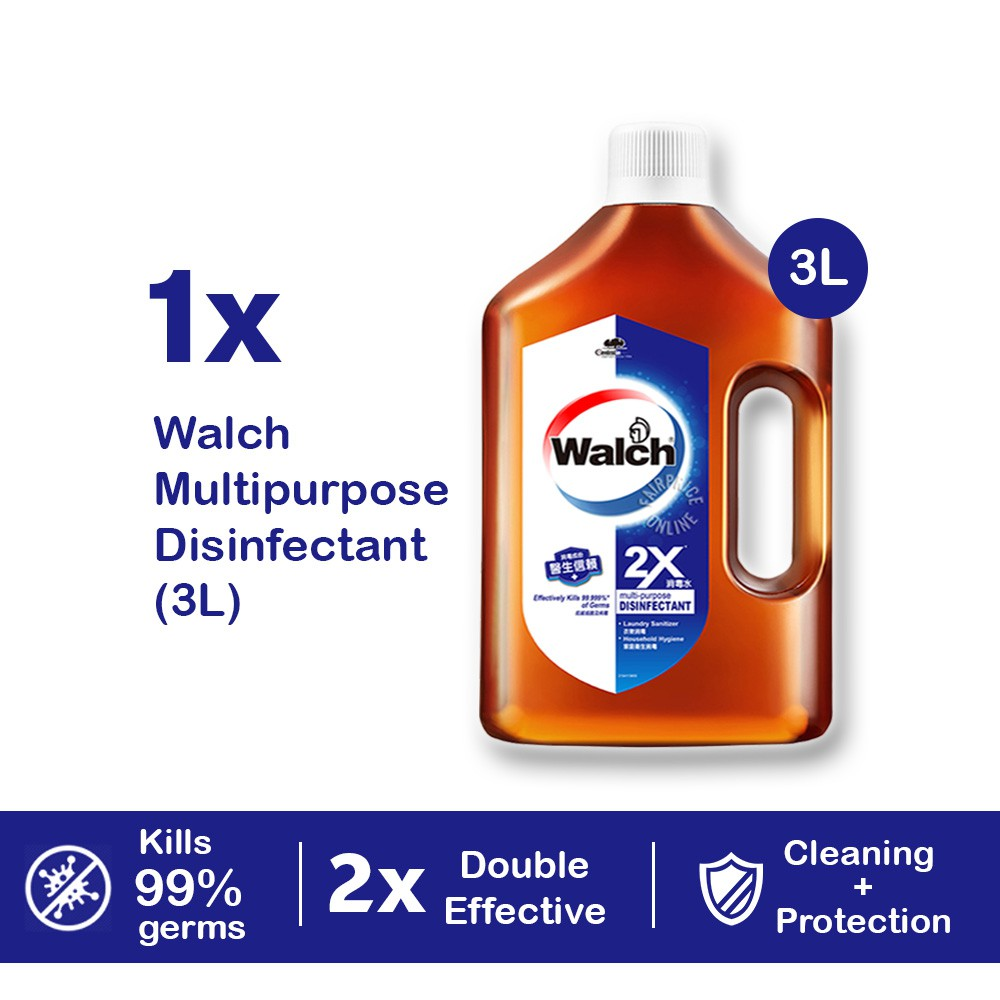 Ready Stock Walch Multi Purpose Concentrated Disinfectant 3L Kills 99.9% Germs