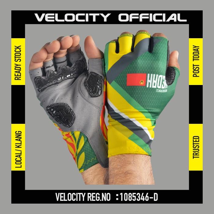 Cycling Glove Gel Velocity Gloves Kedah Half Finger Glove UV Protection Glove Stretchable Glove