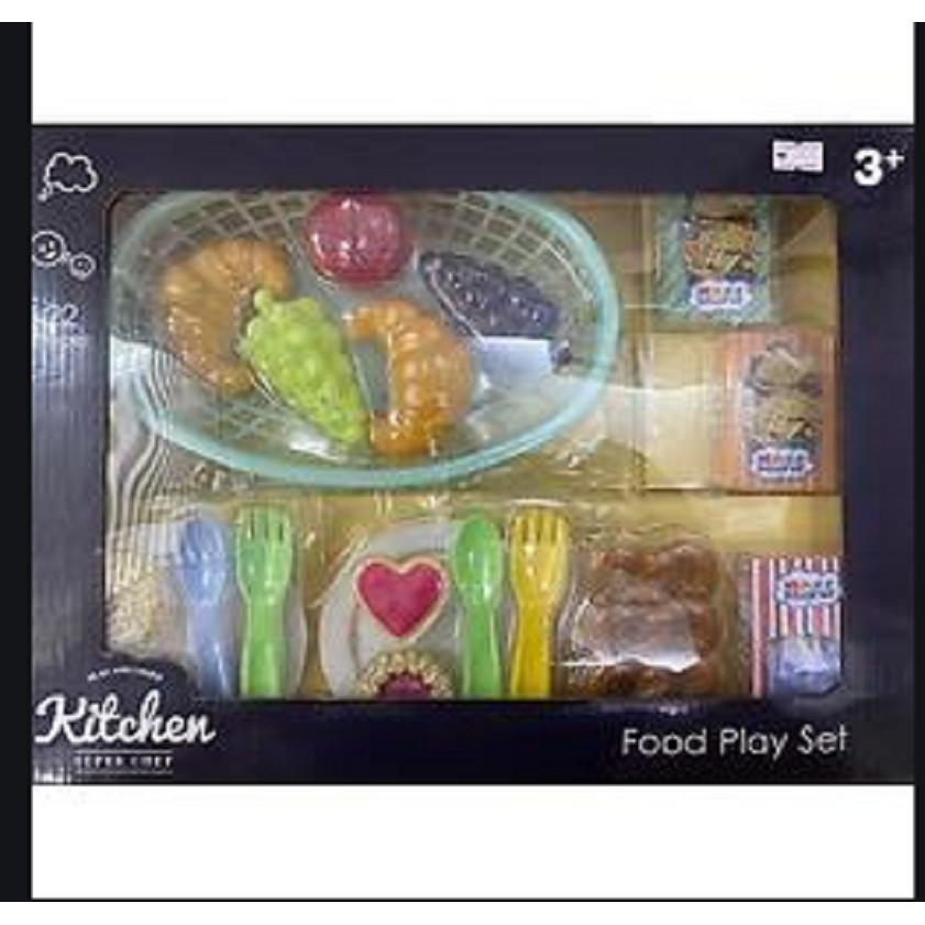INFUNBEBE PLAY AND LEARN KITCHEN SUPER CHEF FOOD PLAY SET (22 PIECES)