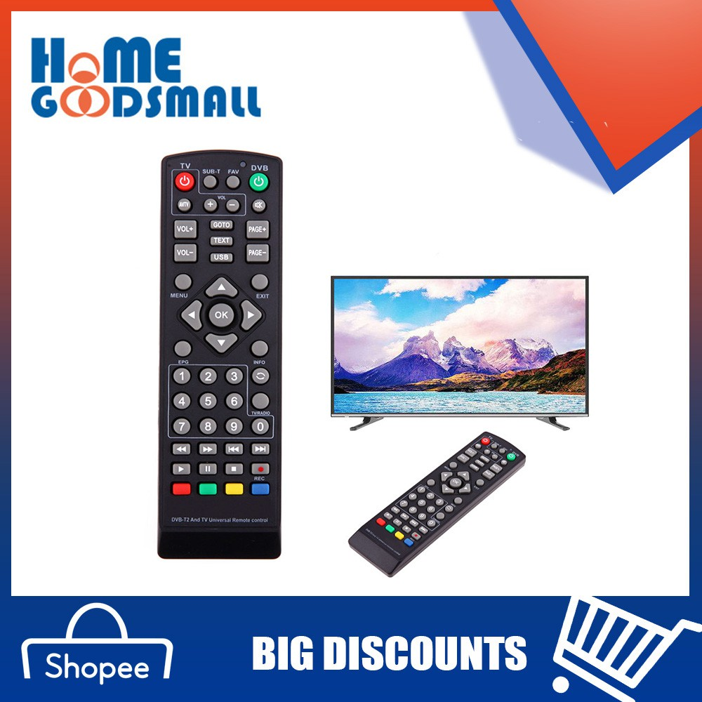 HOM@ 1Pc Universal Remote Control Replacement for TV DVB-T2 Remote Control