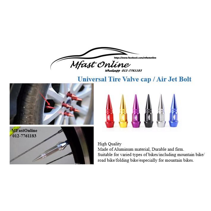 ( 4 pcs )Tire Valve cap / Air Jet Bolt (Red/blue/purple/silver/black/gold)