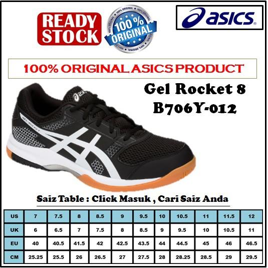 e4eb2c8461 Shoe Asics Gel Rocket 8 B706Y-012 (100% Original) | Shopee Malaysia