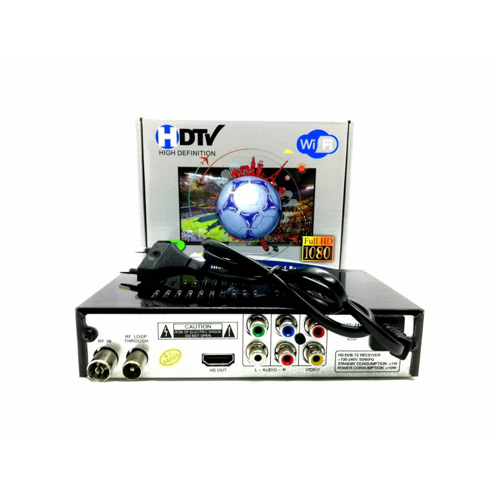 (WIFI youtube version) Digital TV Receiver USB Media Player Decoder AV  Cable