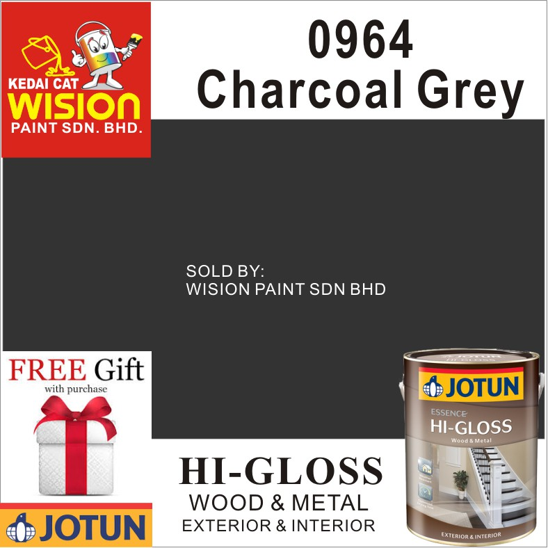 Charcoal Gray Paint >> 0964 Charcoal Grey 1l Jotun Essence Hi Gloss Paint