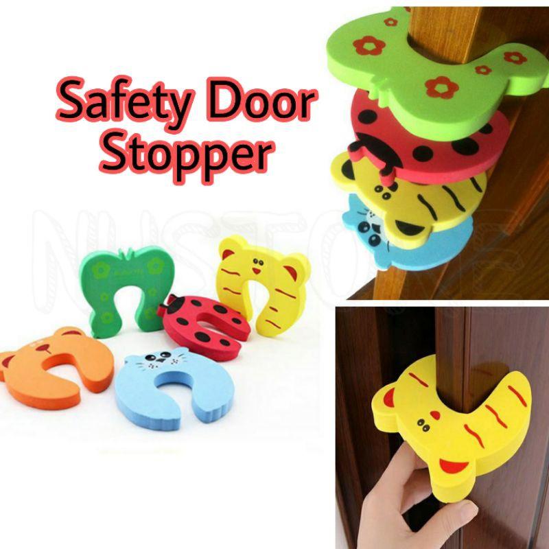 Cartoon Safety Door Stopper Kids Home Awareness Stopper Finger Pinch Room Door / Span Cartoon Tahan Pintu Sendal Pintu