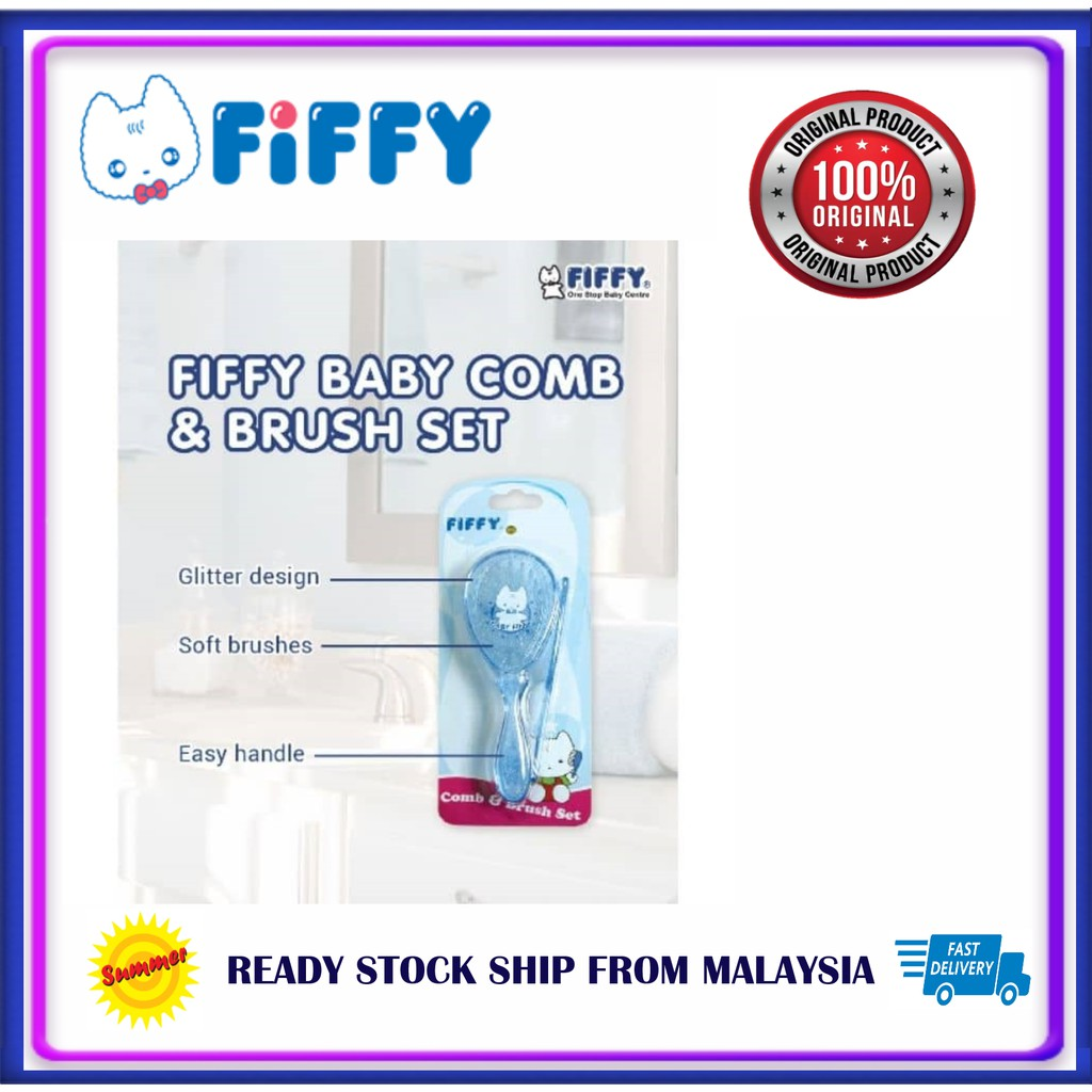 Fiffy Baby Comb & Brush Set FIFFY BABY COMB AND BRUSH SET BAYI SIKAT RAMBU