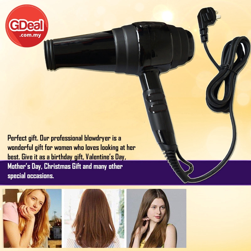 GDeal Professional 2000W High-power Hair Dryer Hot And Cold Does Not Hurt Hair