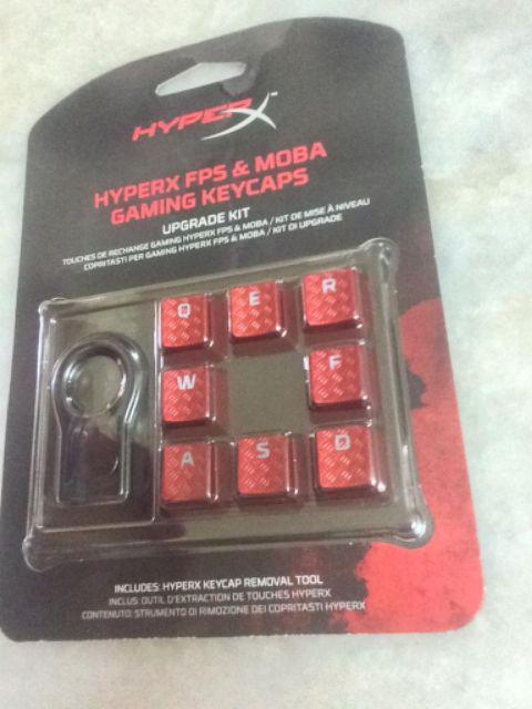 HyperX FPS & MOBA Gaming Keycaps Upgrade Kit - Red/Titanium