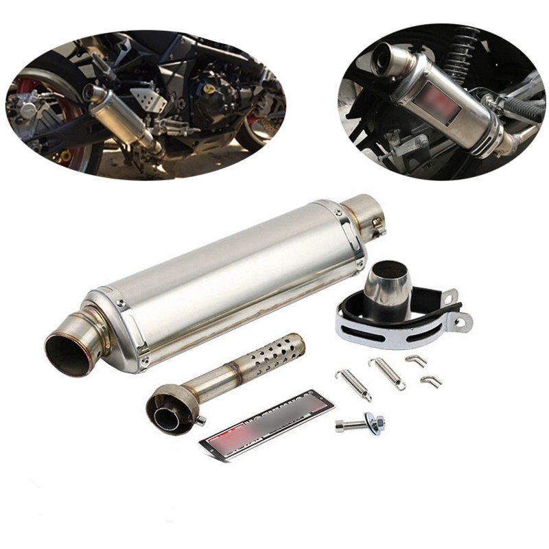 Universal 51mm 61mm Exhaust Muffler Pipe with Removable DB Killer for Motorcycle