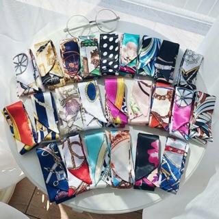 Women,Pot Weed Leaf,Twilly Handbag Handle Silk Scarf Bracelet