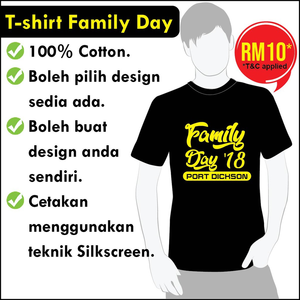 1daa8f14 Personalized Family Day T-shirt   Shopee Malaysia