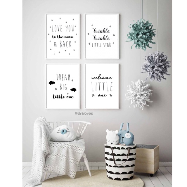 Wall Decor Frame 4 Pcs Kids Room