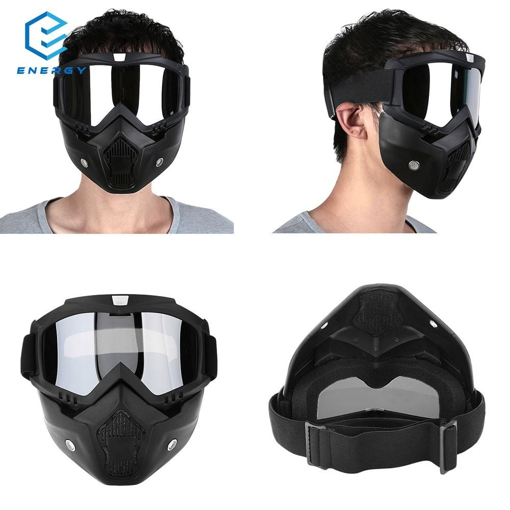 bb93801b74 Motorcycle Mask Goggles Detachable Windproof for Motocross Outdoor Riding