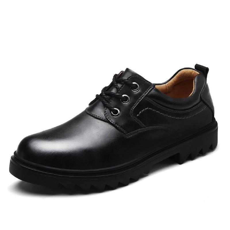รองเท้าหนังลูกวัวแท้ Mens Martin Shoes รองเท้า