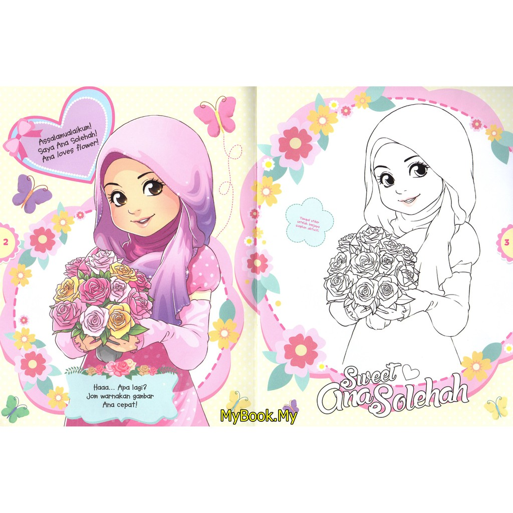 Myb Buku Aktiviti Bersama Ana Solehah Percuma Stiker 1 Mewarna Ana Muslim Shopee Malaysia