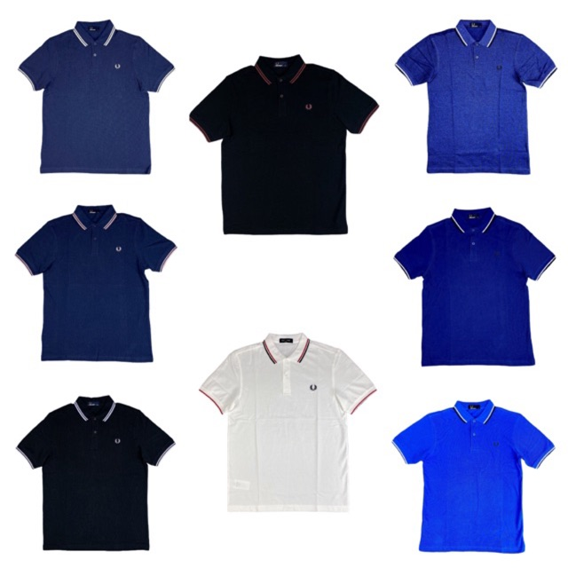 New Fred Perry Twin Tipped Polo Shirt Black Yellow S M L XL M3600 Slim Fit Pique