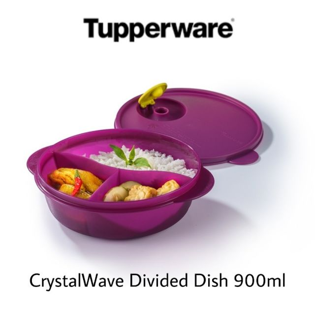 Tupperware CrystalWave Divided Dish 900ml (1pc) / Tupperware Lunch Box