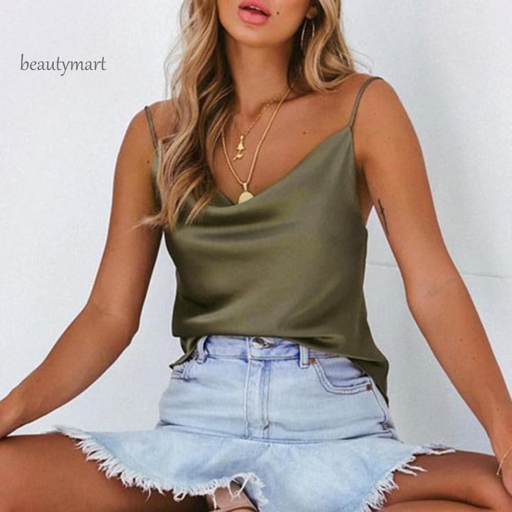 Sling Vest Women/'s Tops Summer V-neck Sleeveless Open Back Comfy Comfortable