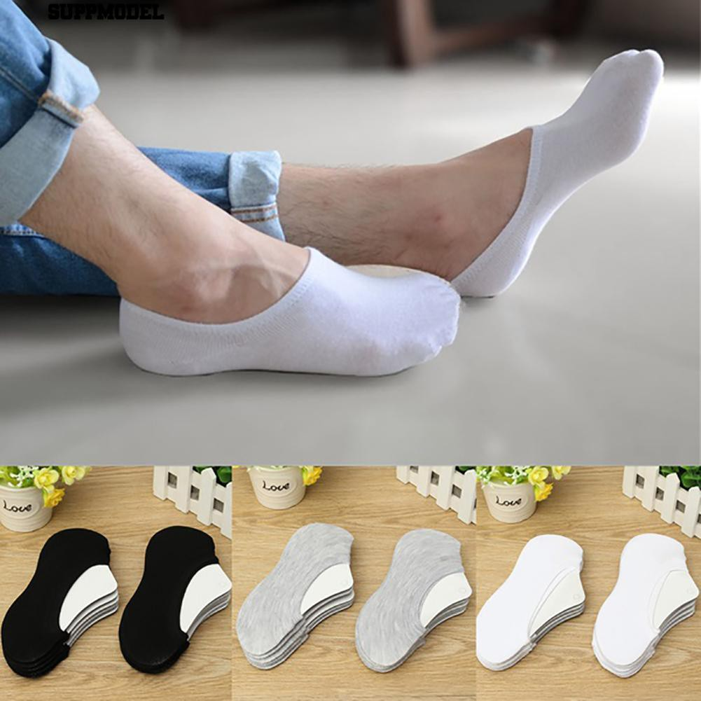 Womens Toe Socks Pairs Cotton No Low Non-Slip Loafer Cut Show 5 Invisible Boat
