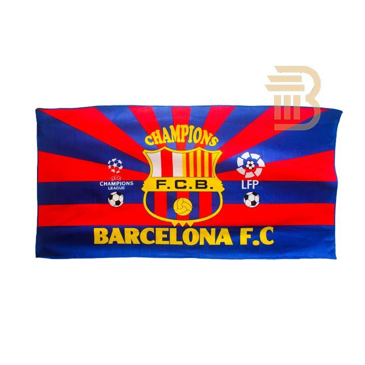 *TUALA BARCELONA *Towel Barcelona Barca Tuala Mandi Serap Air 1 pcs Tuala Bola 140cm x 70cm