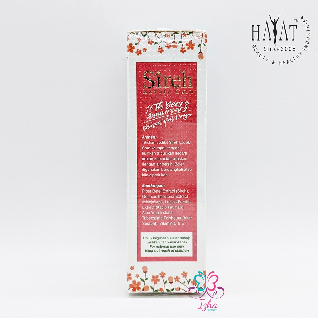 [HAYAT BEAUTY] Sireh Lovely Care (new pack) - 80ml