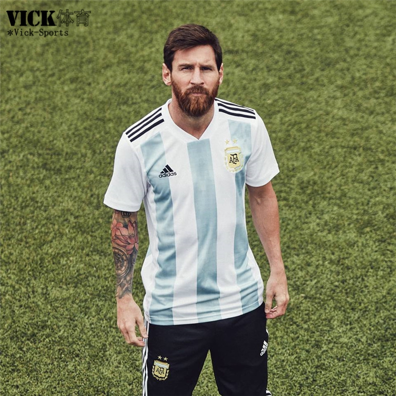 buy popular 4e6fe 4c7ce Top Quality Argentina Messi No.10 2018 World Cup Home Football Jersey