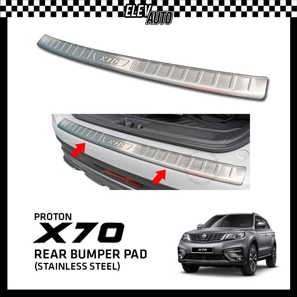 Proton X70 Premium Stainless Steel Titanium Bumper Guard Bumper Pad