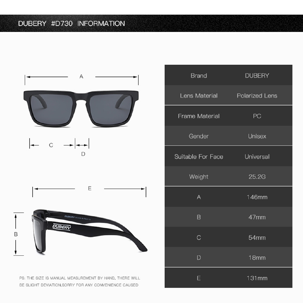 DUBERY D710 UV400 Polarized Sunglasses Sport Driving Fishing Cycling Goggle