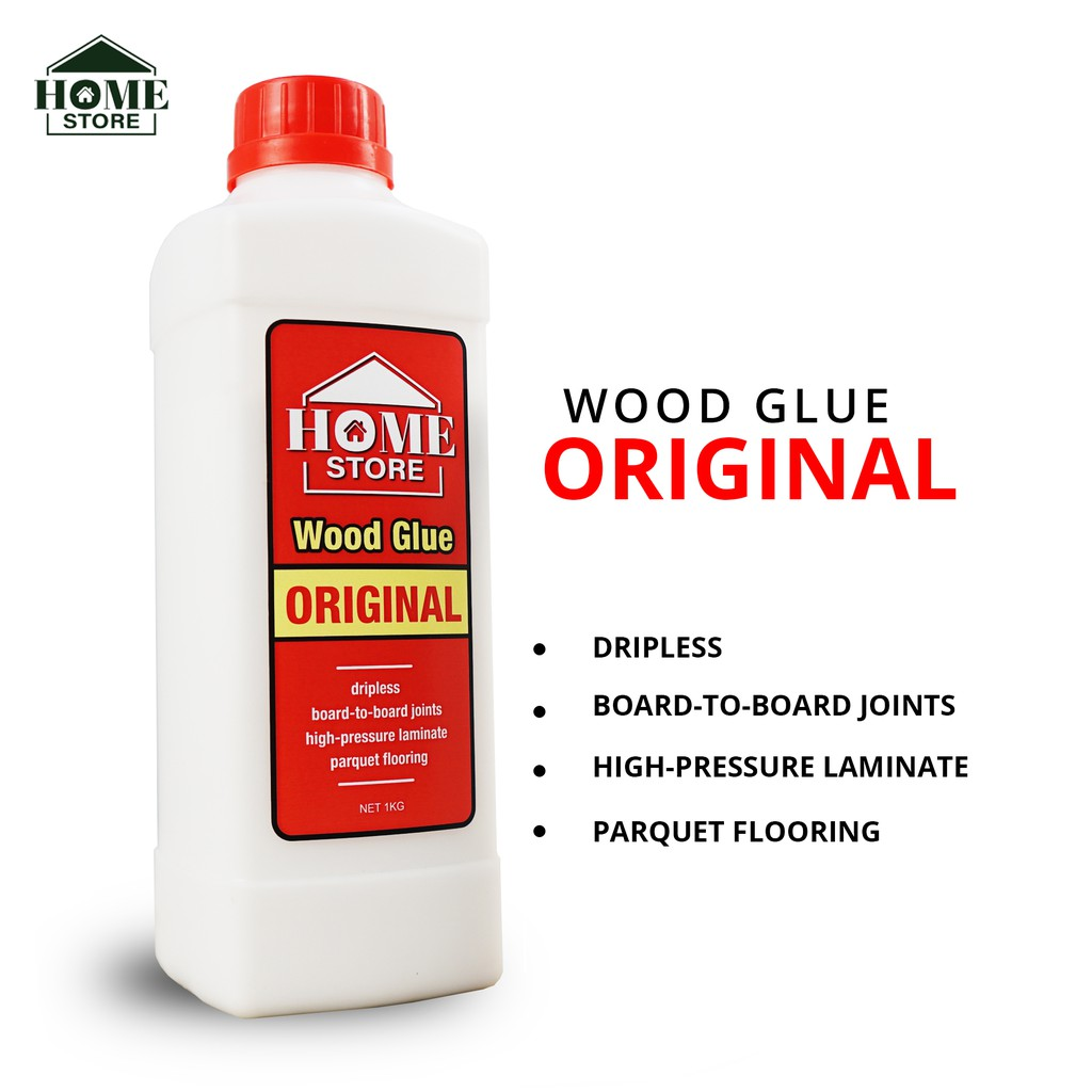 Home Store Original Wood Glue (Gam kayu) Single Component Polyvinyl Acetate Adhesive 1KG