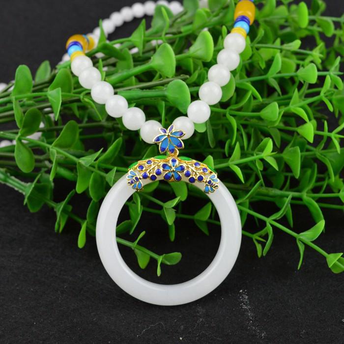 c85448de6aa Women's Wild Jewelry White Jade Ring Kunlun White Jade Ring Pendant Necklace    Shopee Malaysia