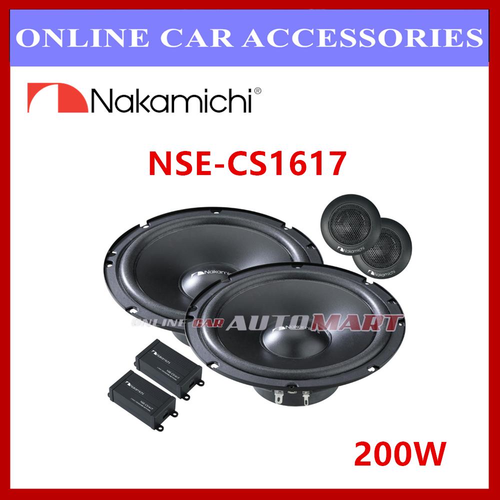 """Nakamichi NSE-CS1617 6.5"""" 2-Way Component Speaker (200W)"""