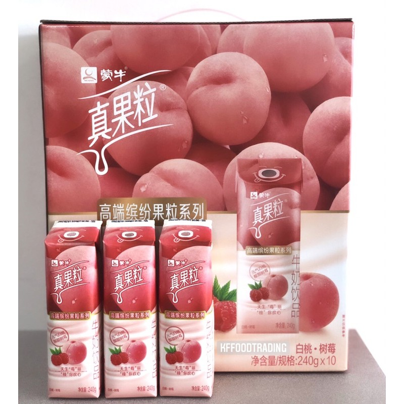 真果粒 莓果桃牛奶飲品/百香芒果 240g