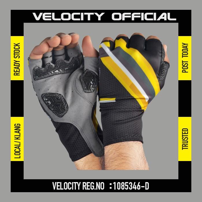 Cycling Glove Gel Velocity Gloves Perak Half Finger Glove UV Protection Glove Stretchable Glove