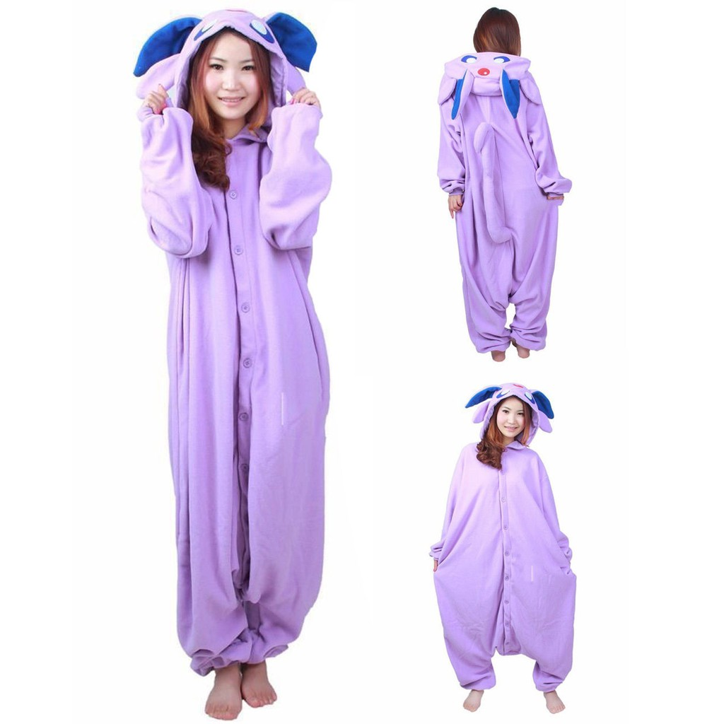 9f1146ee43 Anime Pokemon Espeon Adult Kigurumi Pajamas Cosplay Costume Sleepwear