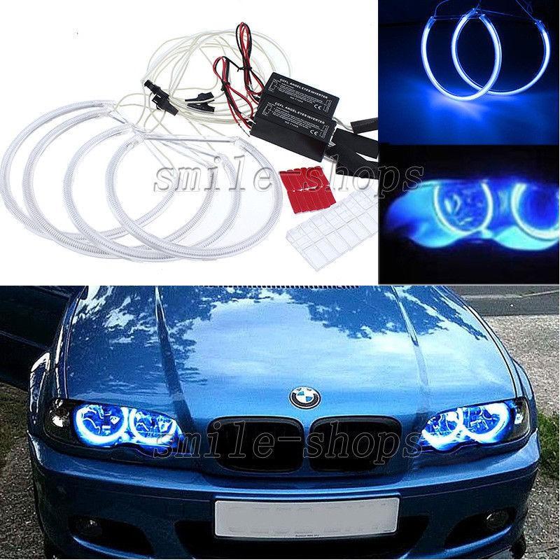 Hi-Power CCFL Angel Eye Halo Ring Blue Light for E46 3-series Coupe 325i 330