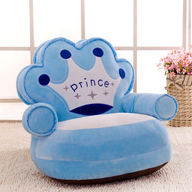 [ READY STOCK ]  Baby Seat Sofa cover chair bag cartoon crown seat game plush kids seat