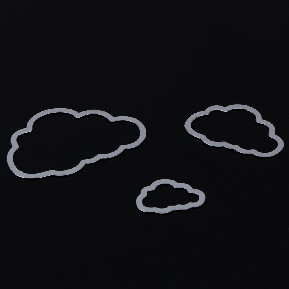 [BBL]-3 Clouds Metal Die Cuts Metal Cutting Dies Scrapbookin