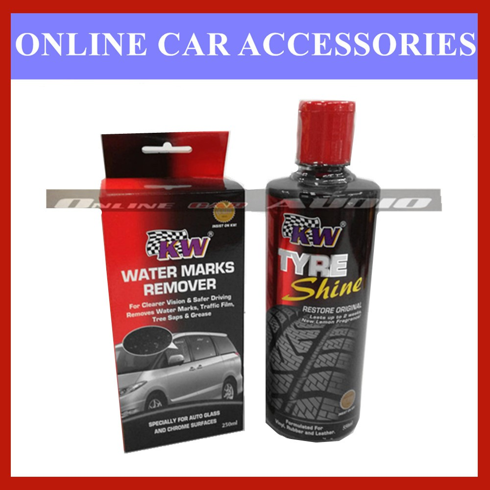 Kw 1x Tyre Shine 550ml,1x Water Marks remover (2 item in package)