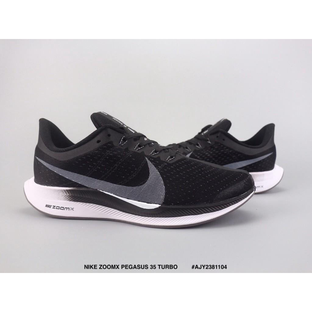 code promo 6f24f 8ece2 Ready Stock NIKE ZOOMX PEGASUS 35 TURBO Light mesh mesh running shoes Black