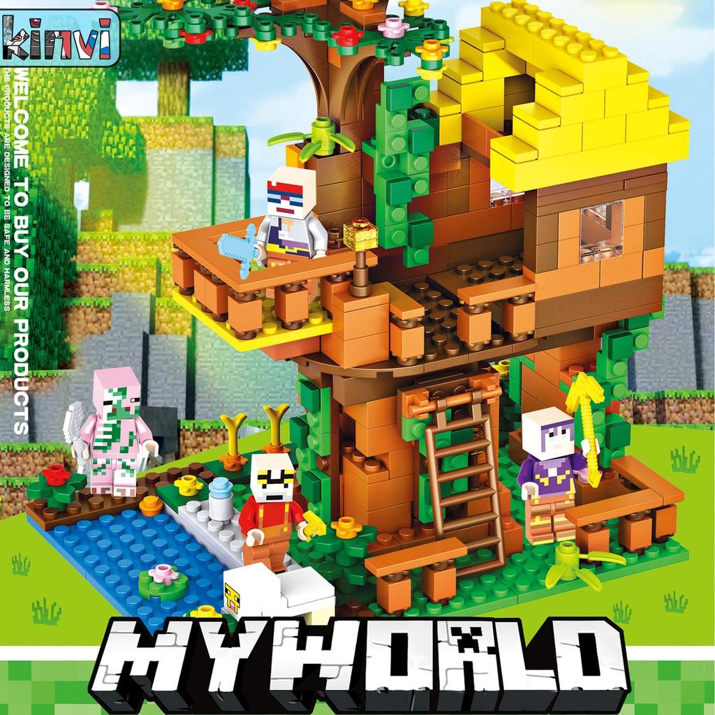 My world Minecraft Deformation combination Minifigures Lego Compatible  Building Blocks 445PCS
