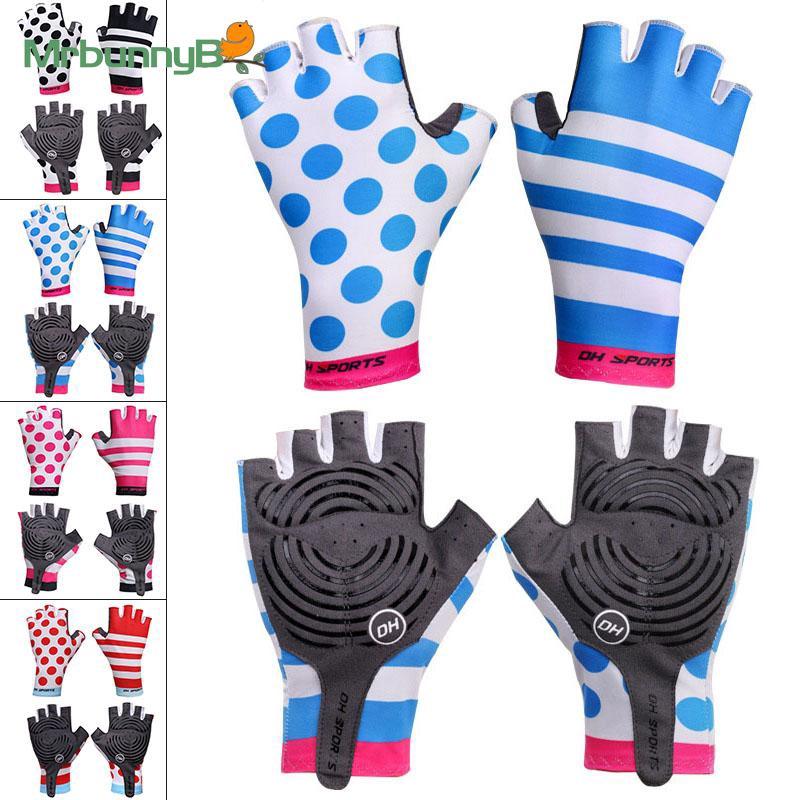 Gloves Pair Men Women Outdoor Sports MTB Road Mountain Bike Half Finger Breathable Wear resistance Palm-fitting
