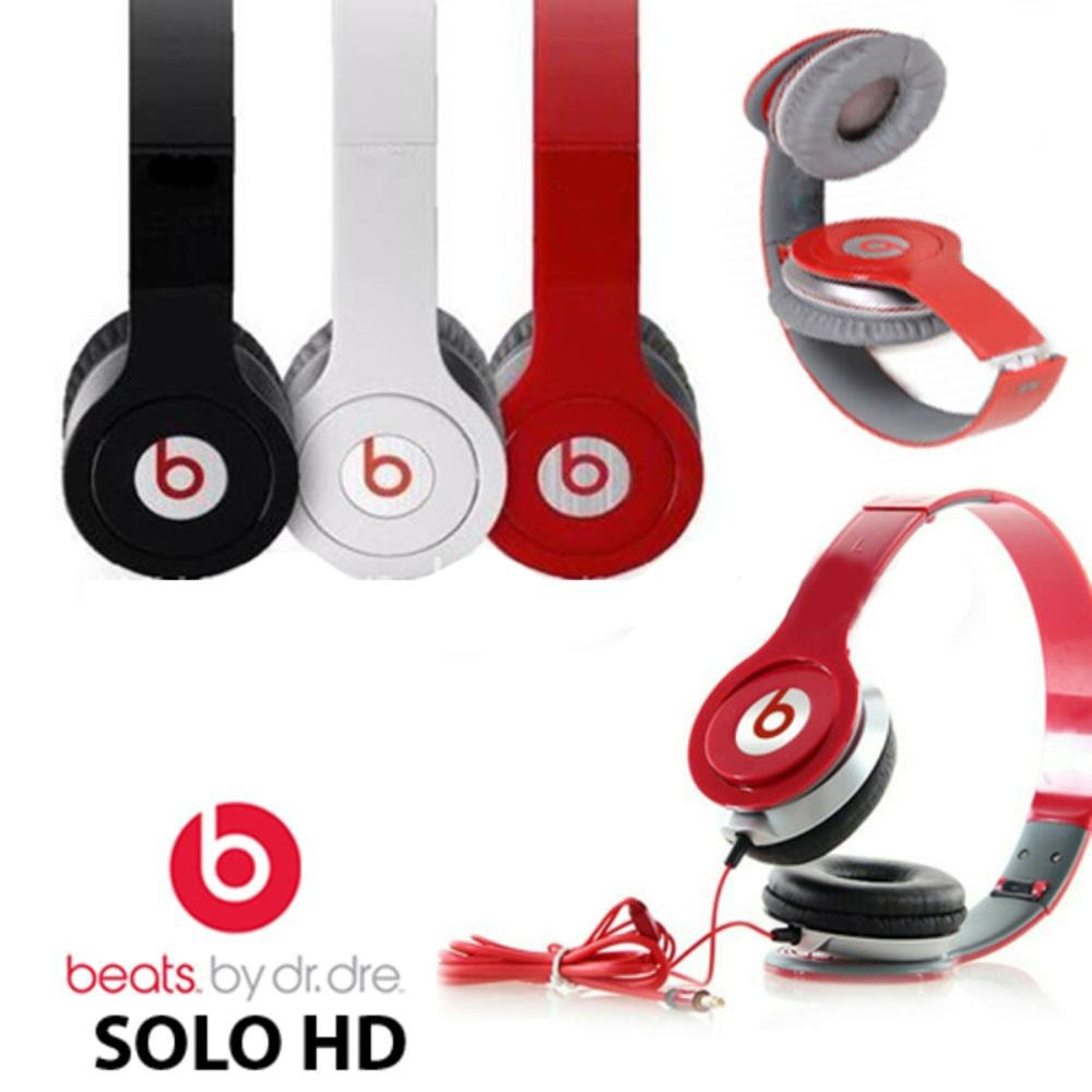 Beats Solo Hd Earphone Fashion Headphone Wired Brand Headphone Oem Shopee Malaysia