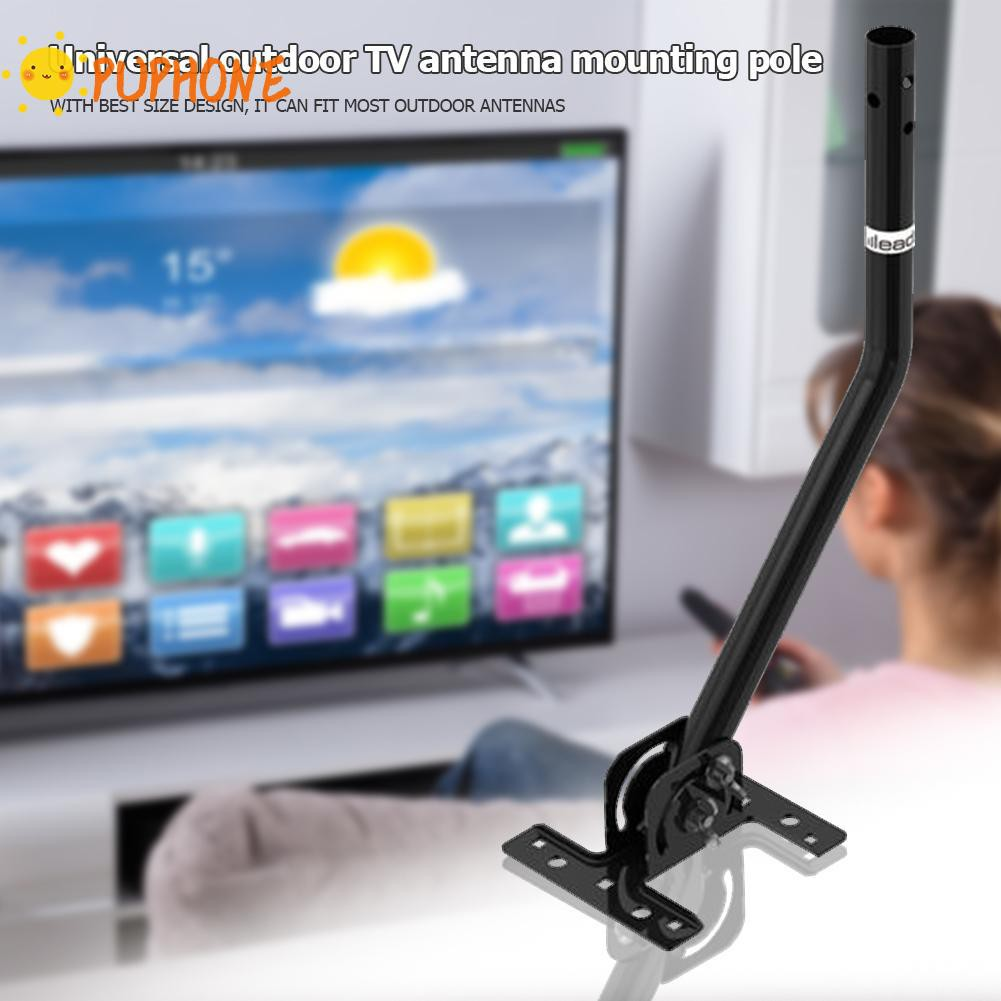 Leadzm G01 Universal 180°Adjustable TV Antenna J-Pole Aerial Bracket Black