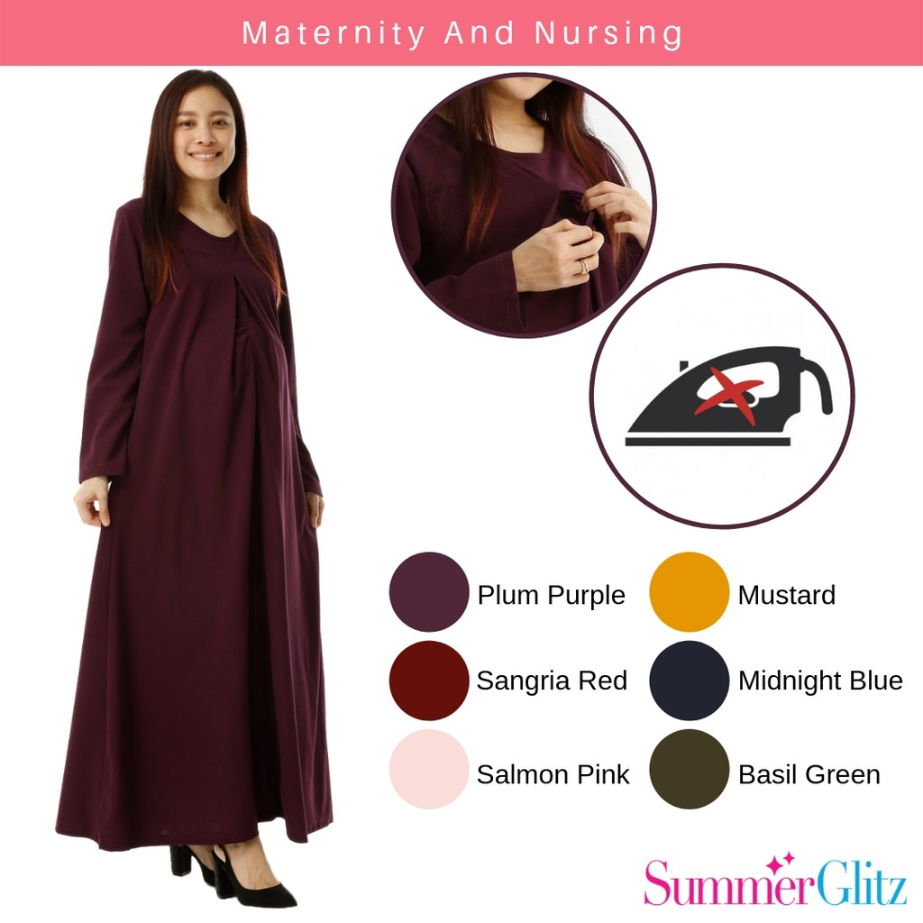 2d510d8fe812c Little Dress by Qissara - Maternity and Nursing Blouse | Shopee Malaysia